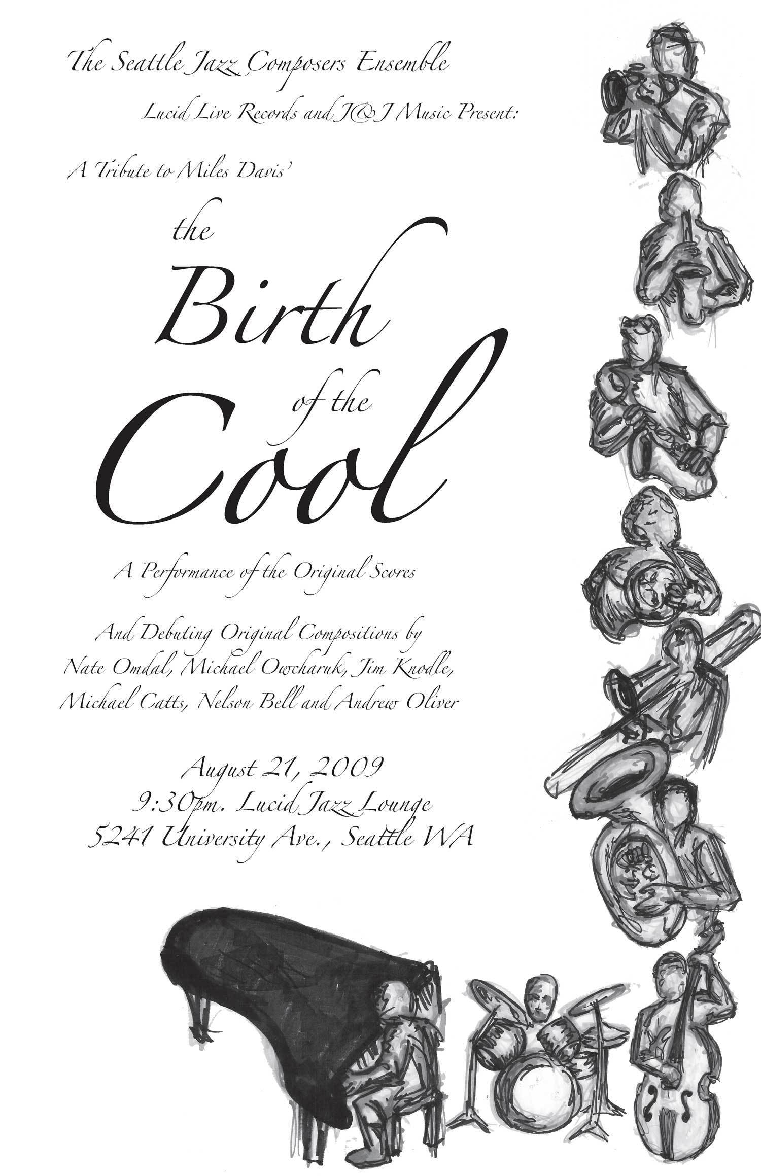 """Seattle Jazz Composers Ensemble: """"Birth of the Cool"""" Tribute"""