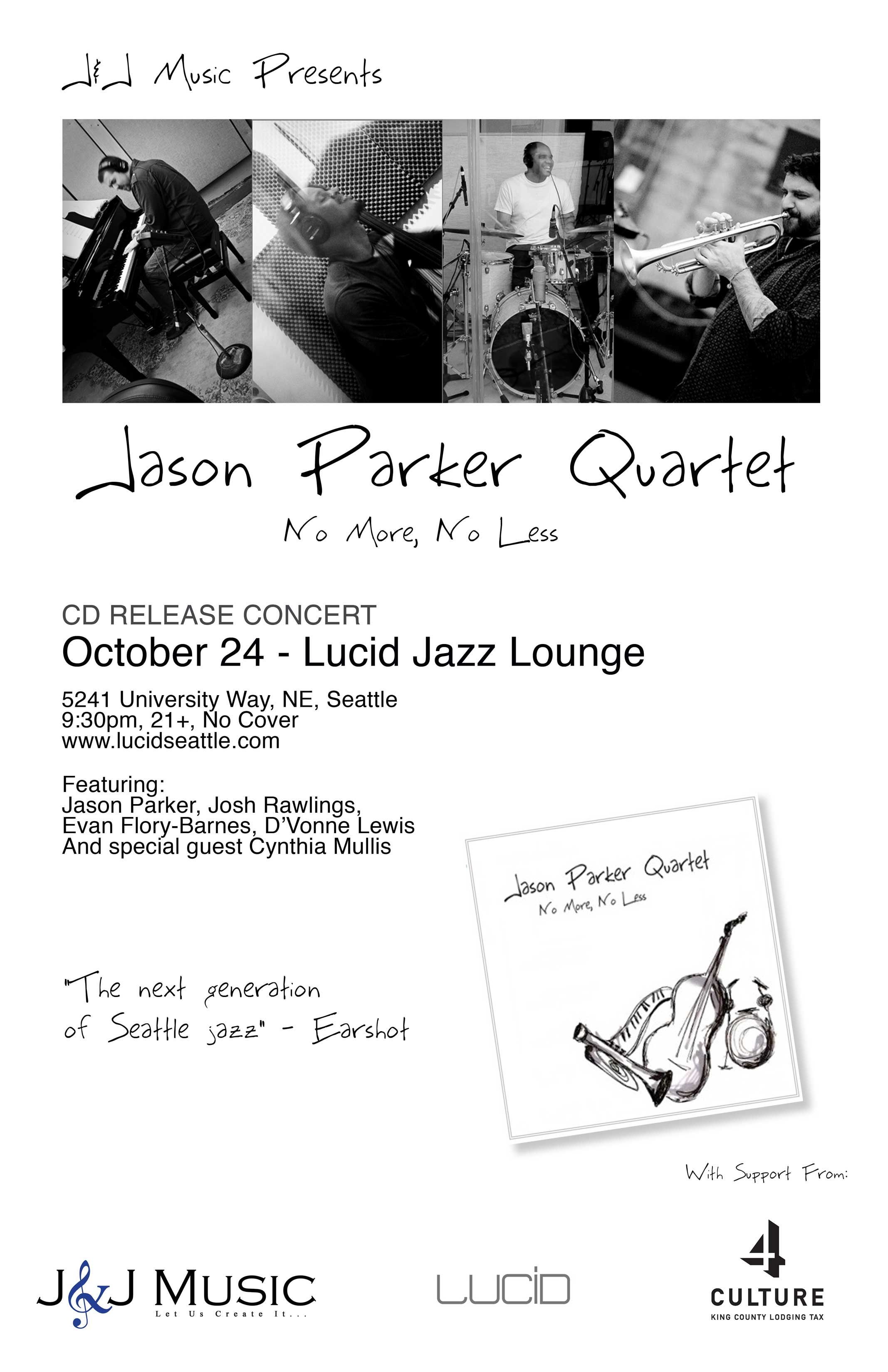 """No More, No Less"" by The Jason Parker Quartet to be Released on October 24, 2009"