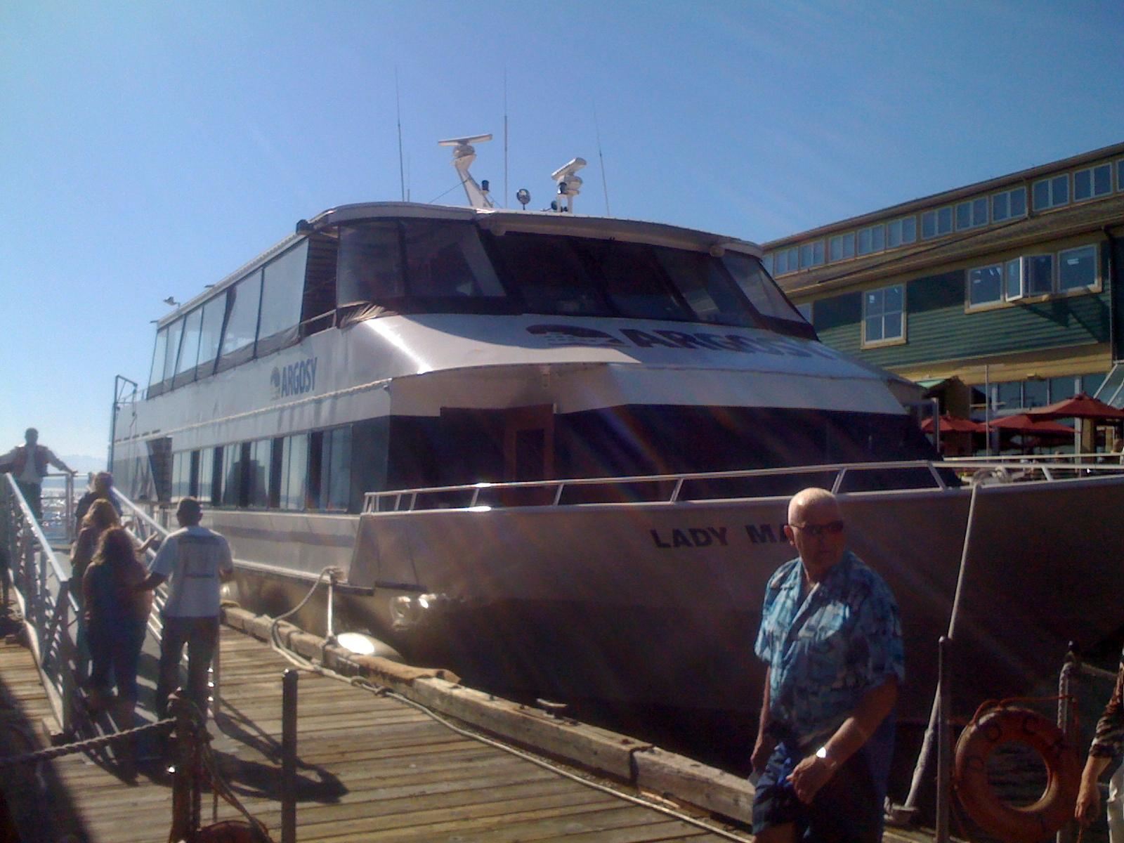 Pam & Jon, July 23 on Argosy Cruise